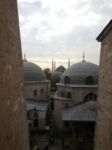 Looking out of the Hagia Sophia (istanbul, Turkey)