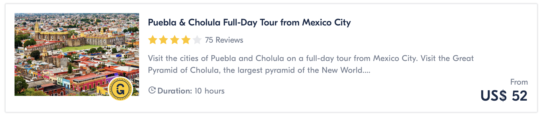 Puebla day trip from Mexico City