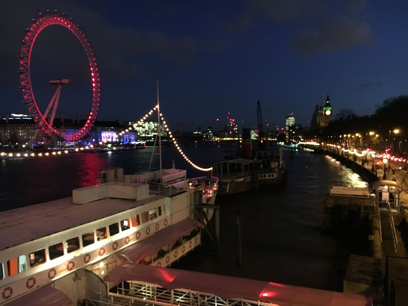 Thames River, London Eye
