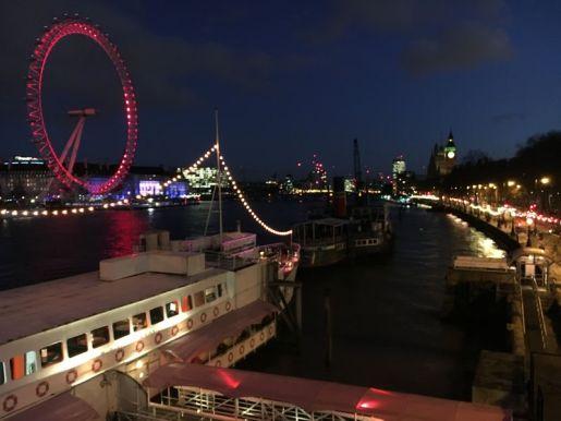 Thames River, London Eye