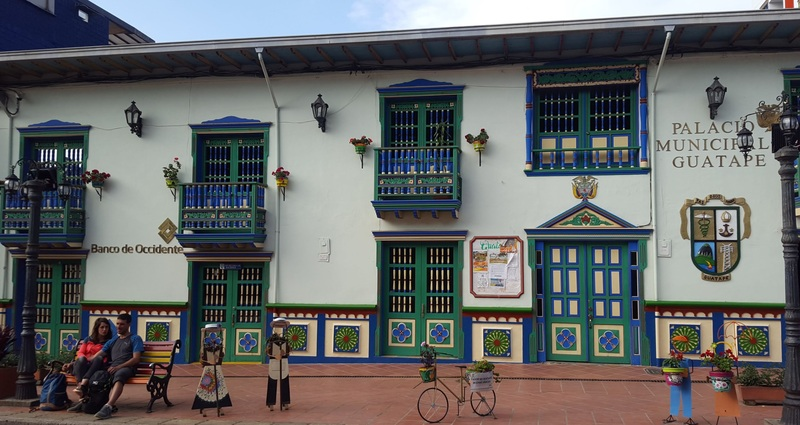 Guatapé is known as the most colorful city in Colombia.