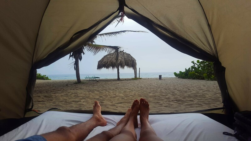 Glamping in the national park in Colombia