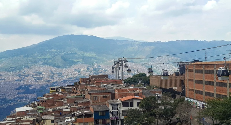 Over 6 miles of metro cable in Medellín connects the city.