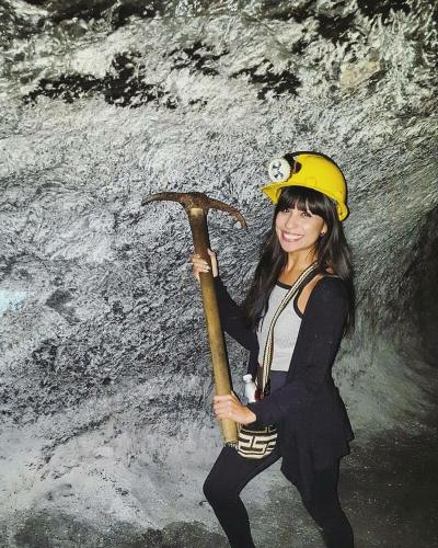 Mining inside Zipaquira salt cathedral and mine