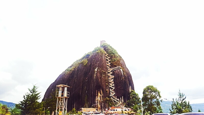 Piedra del Peñol is not to be missed - this rock can be climbed with 750 steps for an incredible view.