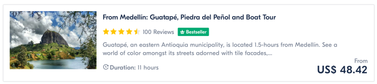 Medellin day tour to Guatape