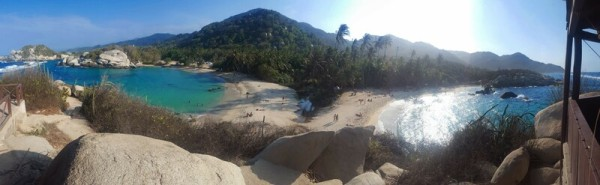Twin beaches at Parque Tayrona