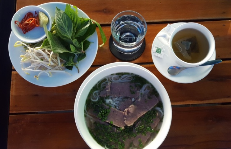 Vietnamese Pho lunch in Ho Chi Minh City