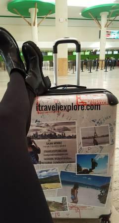 customized travel suitcase