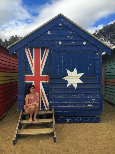 Brighton Beach bathing house in Australia